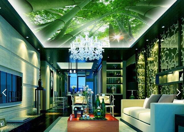 3D Tough Bamboo 743 Ceiling WallPaper Murals Wall Print Decal Deco AJ WALLPAPER