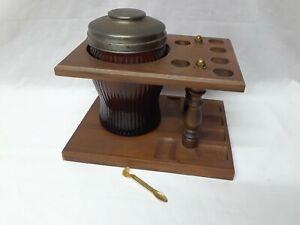 Vintage 6 Pipe Holder StandHumidor