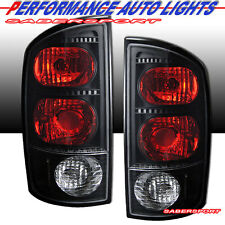02-05 DODGE RAM 1500 & 03-05 RAM 2500 3500 PICKUP ALTEZZA TAIL LIGHTS BLACK PAIR