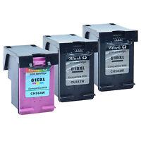 3PK 61XL 61 XL CH563WN CH564WN Ink Cartridges for HP Deskjet 3000 3050 Printers
