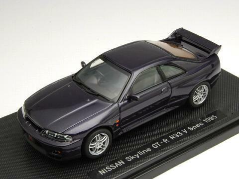 Ebbro 1 43 Nissan Skyline GT-R R33 V Spec 1995 1995 1995 Purple from Japan b7b102