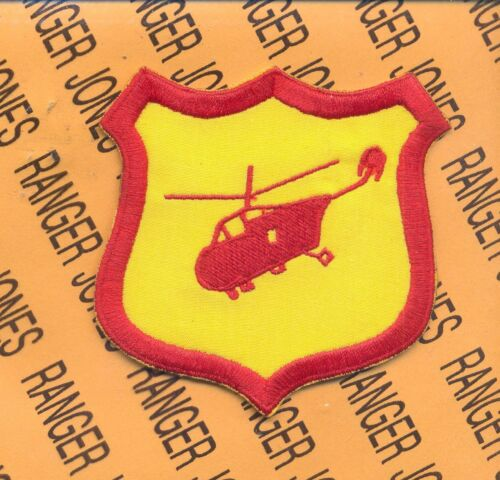 US Army Helicopter Aviation Flight School Red patch