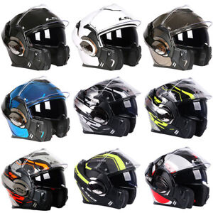 Road Race NOS Vintage 3 Snap White Visor for Open Face Motorcycle Helmet