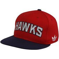 e1f708021b3 adidas Atlanta Hawks Red-navy Blue Wordmark Snapback Adjustable Hat