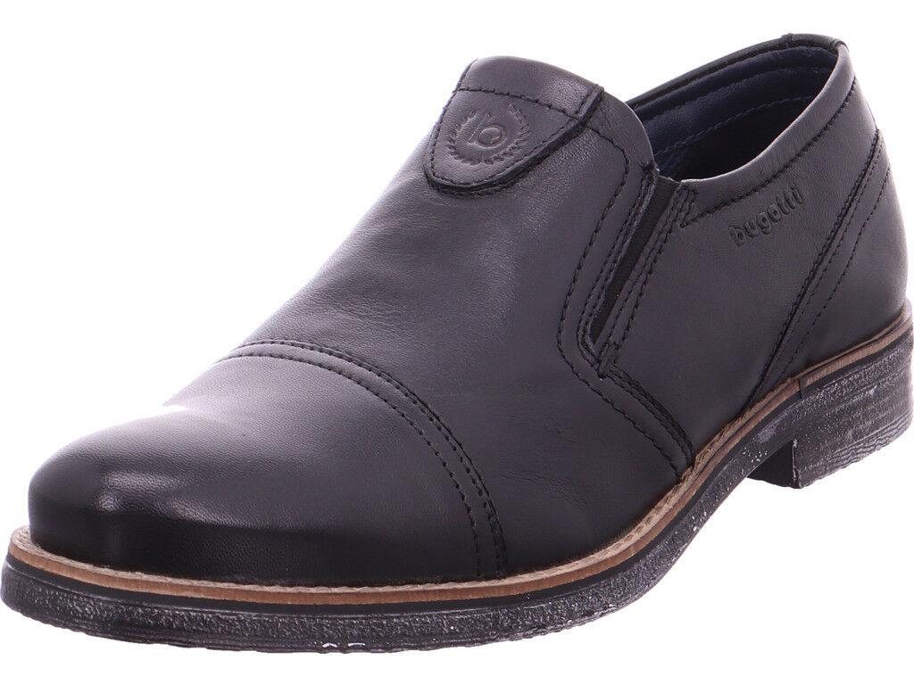 Bugatti Herren  schwarz Slipper schwarz  174236