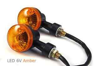 6v led turn signal light orange amber 6 volt moped. Black Bedroom Furniture Sets. Home Design Ideas