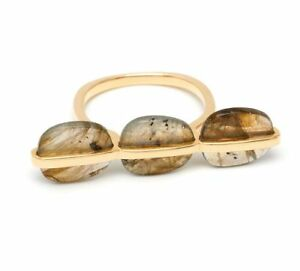 Lola-Rose-Bassa-Triple-Ring-3-Stones-Brass-plated-Labradorite