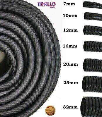 Nouveau 25 mm NOIR polypropylène Flex Split Conduit câble électrique Tidy 10 Mètre