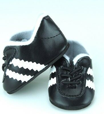 "Boy Doll Logan 18/"" Black White Soccer or Sports Shoes Fits American Girl Dolls"