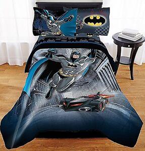 Image Is Loading Batman Bed Set Twin Kids 4 Piece Comforter