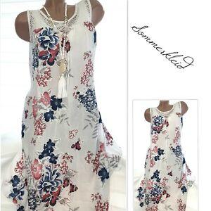 Gr.40-42-44 Luftiges Sommerkleid Lilly (Weiß) Strand Kleid ...