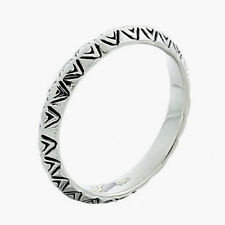 USA Seller Triangular Decor Band Ring Sterling Silver 925 Best Jewelry Size 7