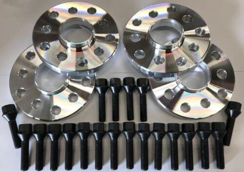 4 x 20 mm Hub Centric distanziatore ruota in lega 65.1 M12X1.5 Nero BULLONI SAAB 5X110