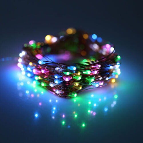 5//10M Firefly Micro Rice 50//100LED String Battery//USB Copper Wire Fairy Lights