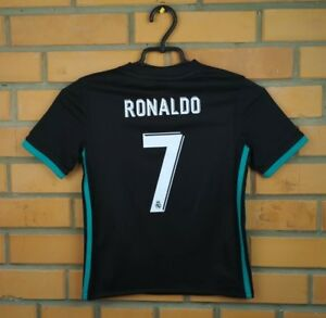 80108738a Ronaldo Real Madrid kids jersey 7-8 years 2018 away shirt B31092 ...