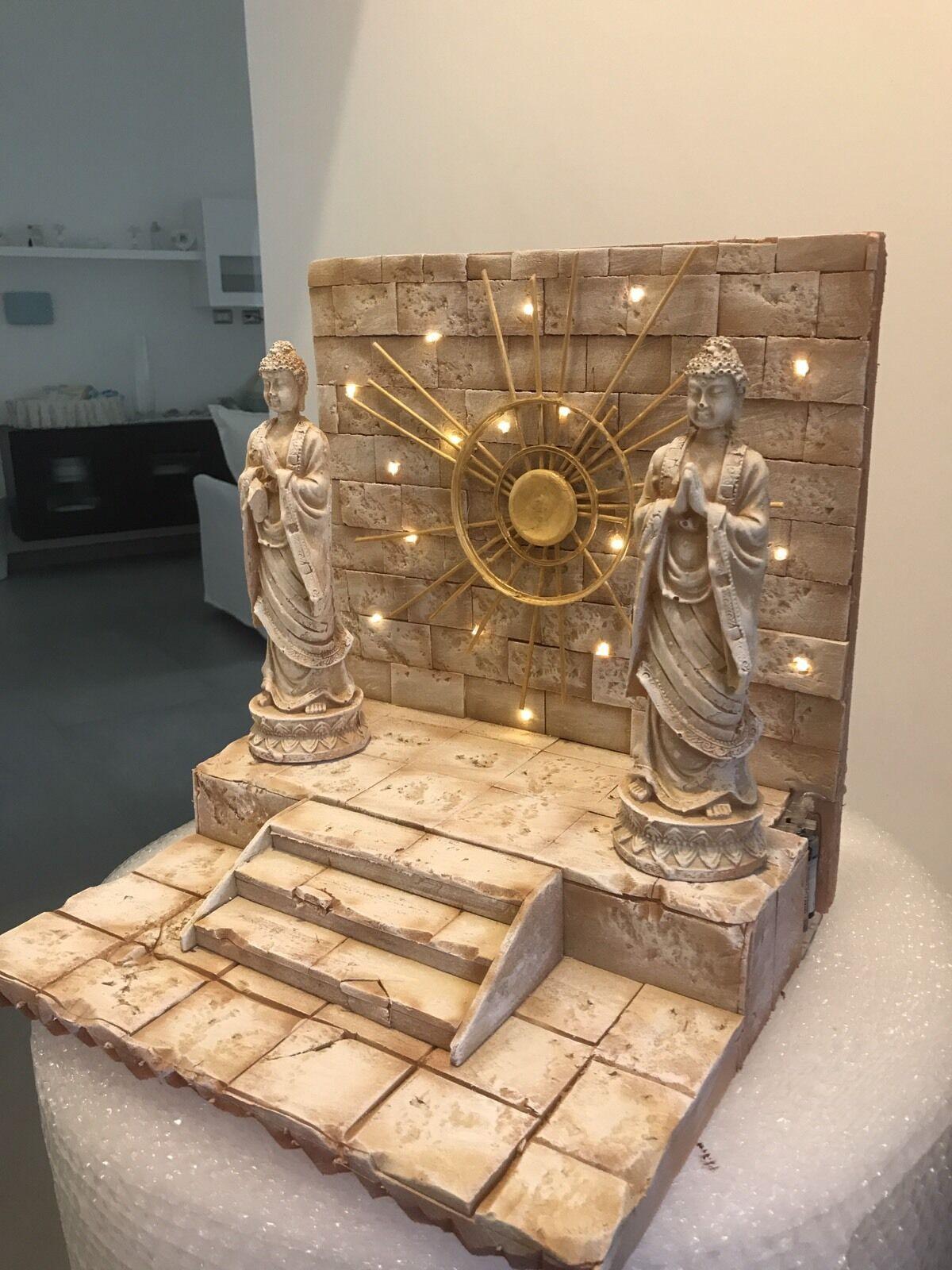 Diorama Decoration Scene Myth Cloth Saint Seiya Casa Di Virgo Shaka + Statue 2.0