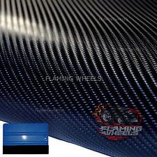 3m x 30cm 4D Carbon fibre vinyl wrap BLACK semi gloss sticker car tape +SQUEEGEE