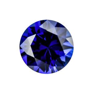 Unheated-3-83Cts-Gemstones-Mined-Sri-Lanka-Blue-Sapphire-9mm-Round-Cut-VVS-Gem