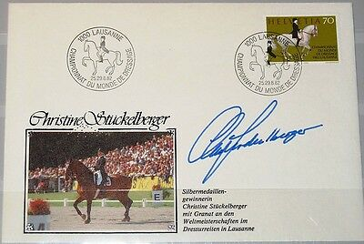 GroßZüGig Switzerland Christine Stückelberger Autograph Equestrian Reiten 2nd Place In Wc Das Ganze System StäRken Und StäRken