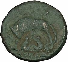 "Constantine I The Great Ancient Roman Coin Romulus & Remus ""Mother"" wolf i40030"