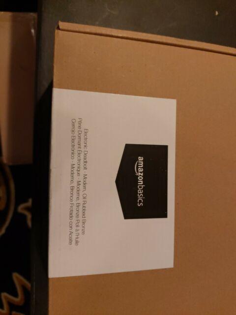 Modern Oil Rubbed Bronze NEW Amazon Basics Electronic Deadbolt Door Lock