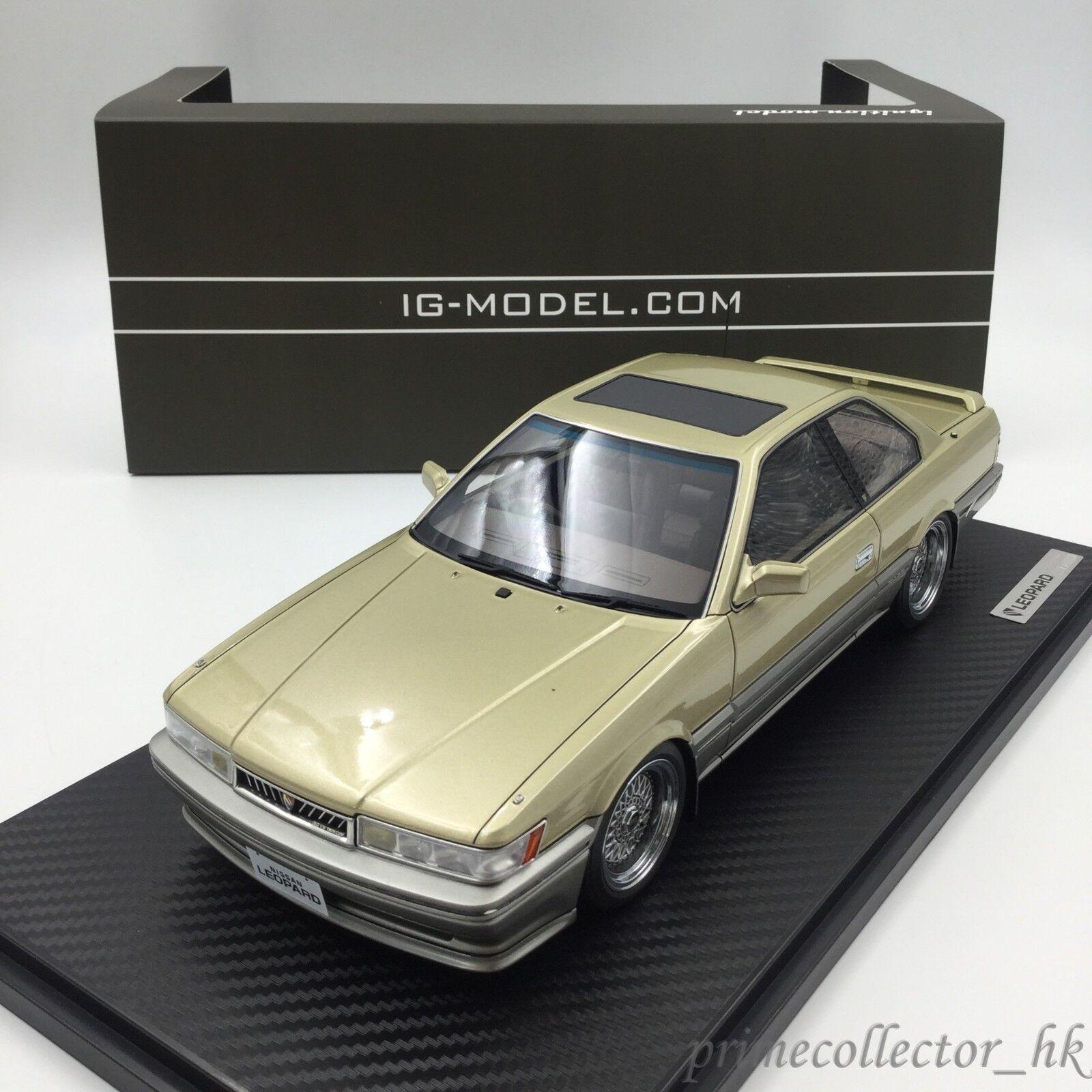 Ignition Models 1 18 Nissan Leopard 3.0 Ultima (F31) gold IG1012