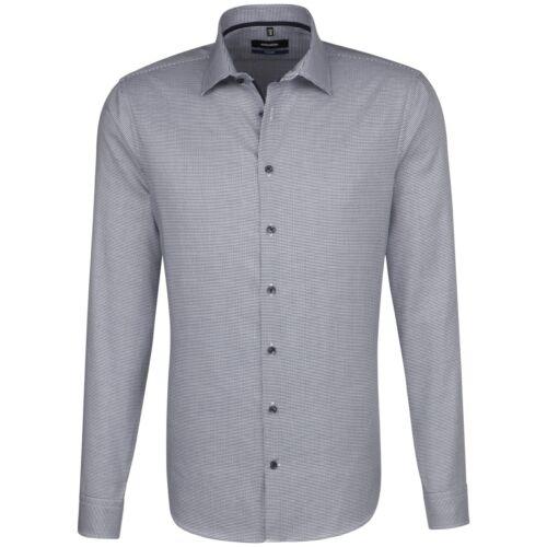 Seidensticker Herren Langarm Hemd Herrenhemd Business Tailored Kent bügelfrei
