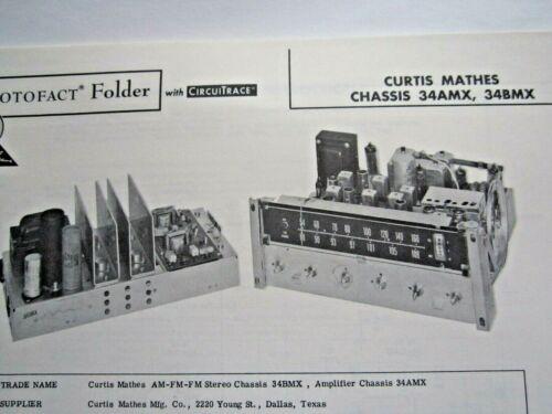 CURTIS MATHES 34AMX /& 34BMX TUNER PHOTOFACT