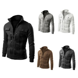 36ce27471609 Fashion Men Cotton Slim Designed Fall Winter Warm Lapel Top Cardigan Coat  Jacket