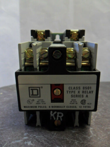 New Square D Class 8501 Type XO 40 A C Control Relay Series A 8501 XO40 NIB