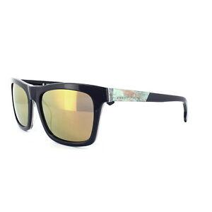 DIESEL-occhiali-da-sole-DL0120-92G-Blu-scuro-arancione-specchio