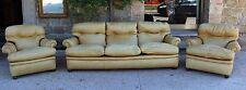 Salotto Frau originale color nocciola divano + due poltrone - anni '80
