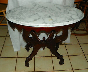Mahogany Marble Top Center Table Lamp Table By Victorian