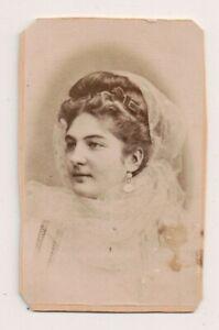 Vintage-CDV-Unidentified-Italian-Actress-F-Ramann-Photo-Trieste