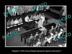 OLD-LARGE-HISTORIC-PHOTO-OF-SINGAPORE-JAPANESE-SURRENDER-SIGNING-1945-ITAGAKI-2