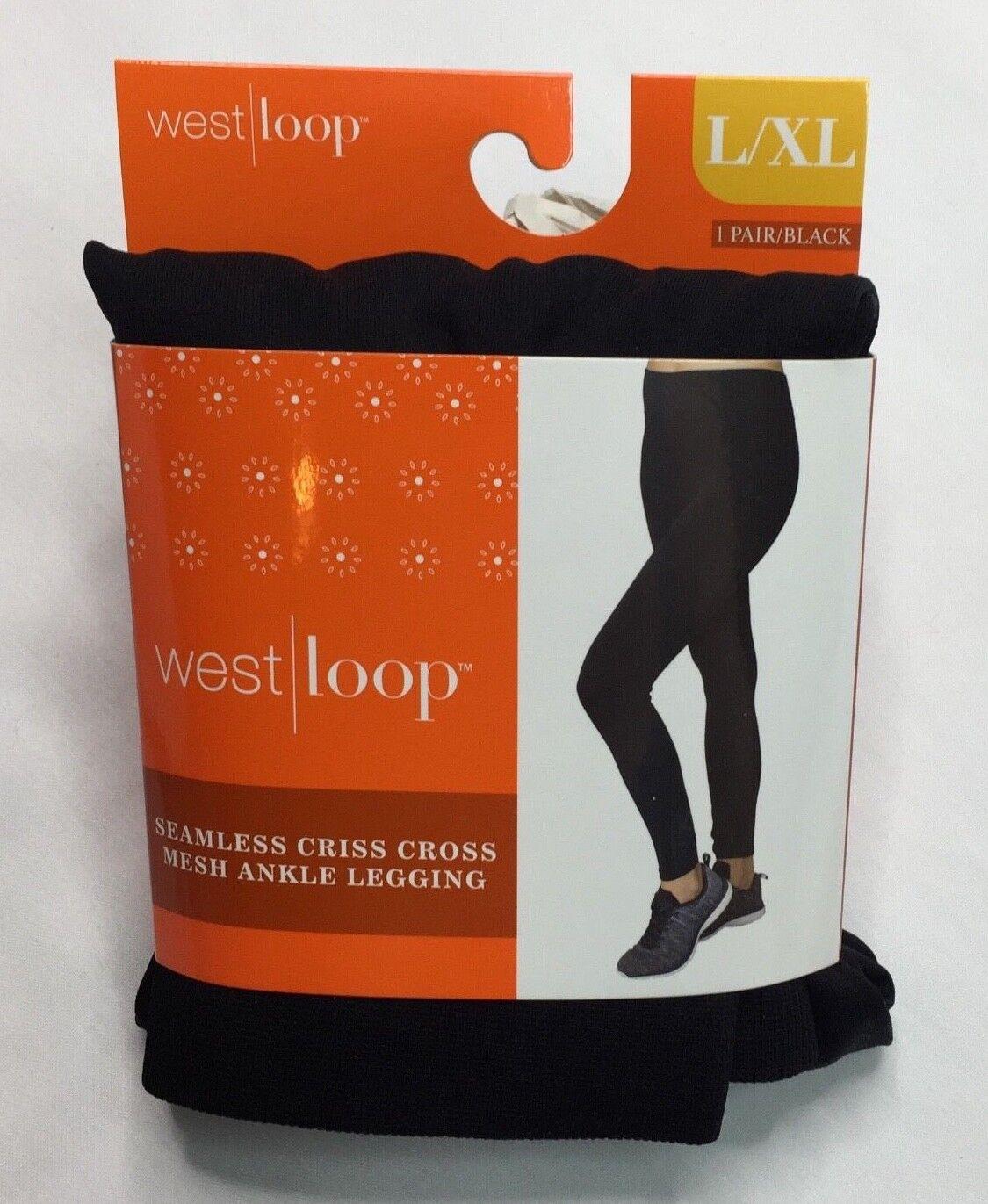 West Loop Black Multi Space Dye Seamless Leggings Ladies Leggings L//XL New