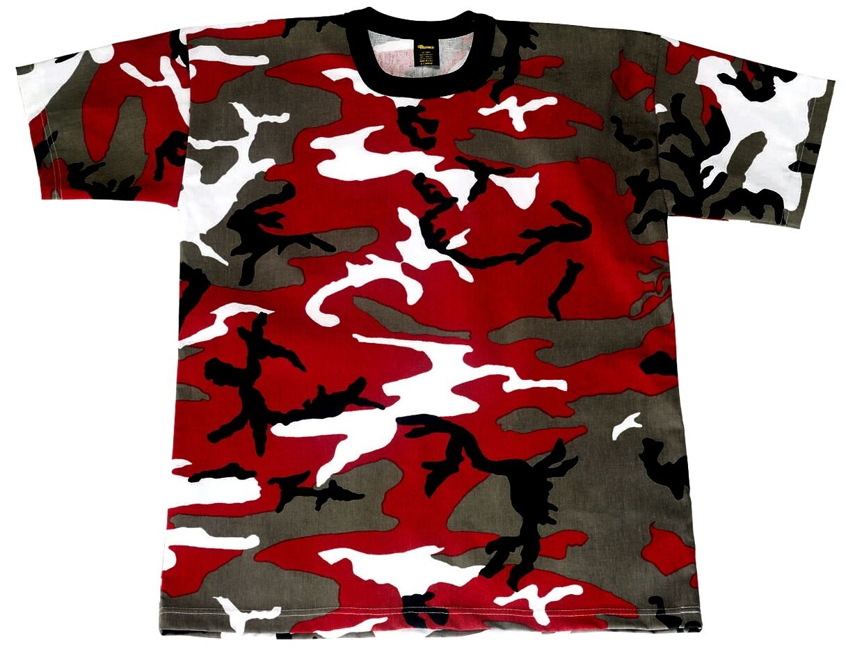d8834633 RED camo tshirt Rothco survival emergency tactical disaster prepper paint XL