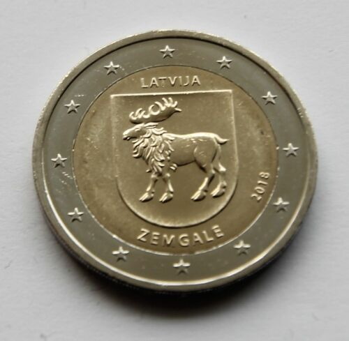 Latvia 2 euro coin 2018 UNC Zemgale