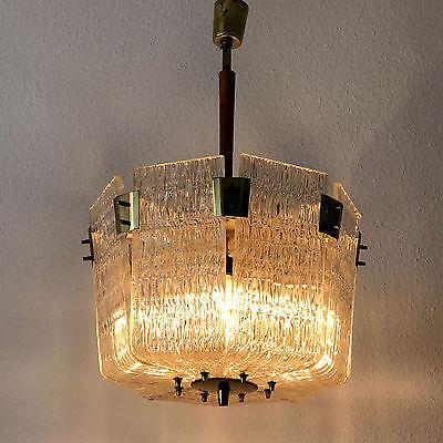 Gorgeous & Unique Mid Century J.T. KALMAR Vienna BASKET CHANDELIER Pendant Light