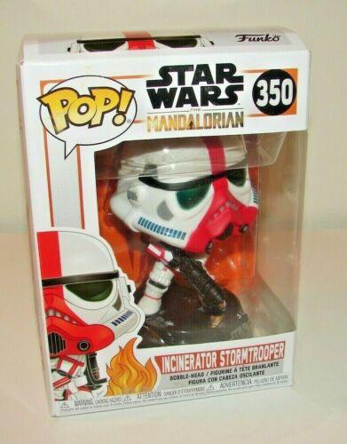 FUNKO POP STAR WARS Mandalorian Incinerator Stormtrooper *NEW* DMG BOX!!!