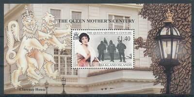 Energisch 268763 Falklandinseln Block 20** 99 Queen Mum Ein Bereicherung Und Ein NäHrstoff FüR Die Leber Und Die Niere Geb