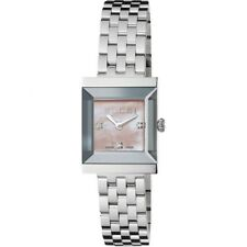f27203ae840 Gucci G Frame Mother of Pearl Diamond Stainless Steel Ladies Watch ...