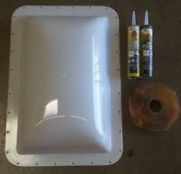 Fleetwood 405528 Measures 26 X 17-13/16 Exterior Dome Skylight With Install Kit