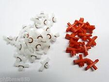 $ NEU Zierleistenclips + Schwellerclips VW Golf 1 & Cabrio 50 weiß 12 rot S13