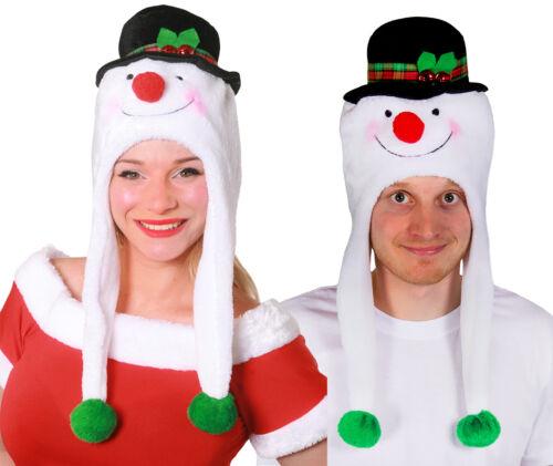 Deluxe bonhomme de neige Couples Noël Chapeaux Homme Femme Paire De Festif Robe Fantaisie