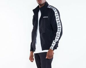 Details about ADIDAS ORIGINALS BLACK WHITE TNT TAPE TREFOIL WINDBREAKER TRACK TOP JACKET