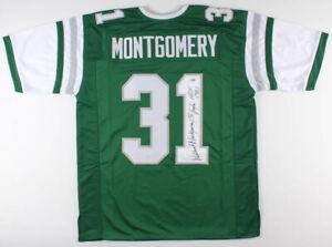 Wilbert Montgomery Signed Philadelphia Eagles Jersey Inscribed HOF ...