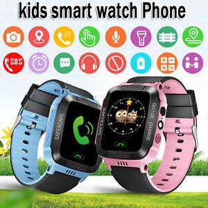 Enfants-Smart-GPS-Montre-Ecran-Tactile-Smartwatch-pour-Filles-Garcons-Anti-Perdu
