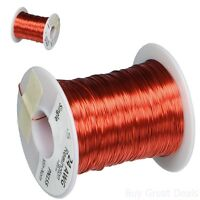 Magnet Wire Enameled Copper Cord 24 Awg 8oz 401' Length 0.0221in Diameter Red In