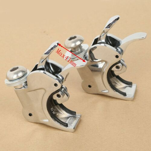 Detachable 39mm//41mm//49mm Windshield Clamps For Harley Dyna Glide Sportster XL